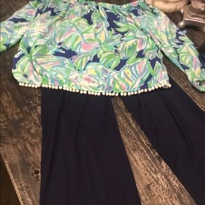 New Lilly Pulitzer palooza pants and top xl